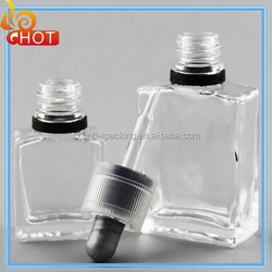 china 1/oz glass bottles ejuice/vapor juice oil | Rectangular See Through E Juice Bottle 15ml rect e-juice bottle vapor glass
