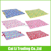 PP woven waterproof printed folding up play mats