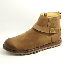 Chaussures professionnelles fabricant plus à la mode boucle sangle bottes avec fermeture à glissière pas cher hommes santiags