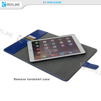 2015 wholesale for apple ipad 6 leather case with stylus holder