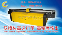 Large uv glass flatbed printer, UV printing machine for glass lowest price solvent UV Flatbed Printer