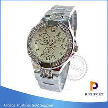 Japan Movement Quartz Diamond Stainless Steel Watch