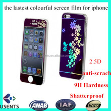 manufactory priced anti-scrach Tempered Glass Screen Protective Film, color screen protector for iphone