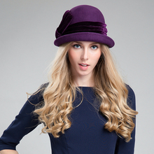 Women's Mini Purple Fedora Hat