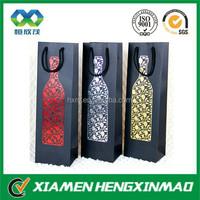 China best seller custom paper single wine bags, elegant wine gift paper bag