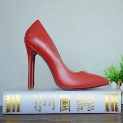 2015 women designer red/blue/pink/beige bottom high heel shoes point toe genuine leather fashion 12cm heels wedding shoes