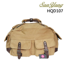 High quality army duffel bag canvas travel shoulder bag for men