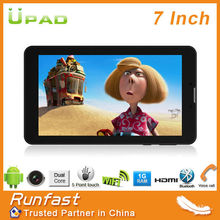 7 inch phone call tablet with GSM and WCDMA dual SIM dual standby