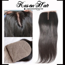 Kason Hair Products Top Quality 100% Unprocessed Virgin Human Brazilian Hair Silk Base Lace Closure 6X6