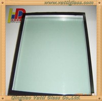 soundproof hard coated low price insulated low-e glass