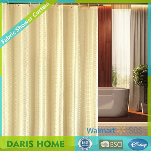 Fabric Bright Solid Colored Shower Curtains