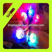 led flashing bumpy jelly ring with led