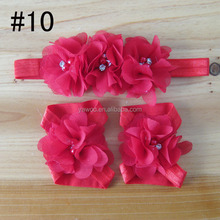 New Arrival flower making sandals cute pearl elastic headband baby headband