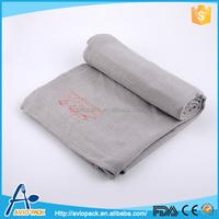 Chinese manufacturer light gray anti pilling inflight blanket