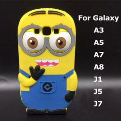 Despicable me minions back silicone case for samsung galaxy A3 A5 A7 A8 J1 Ace j2 J3 J5 J7 back cover