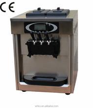 countertop table soft serve 2+1 flavors ice cream machine LED control CE