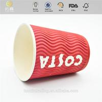 Tuo Xin New Design gelato cups 16oz customized double pe coated soda cold drink paper cup for wholesales