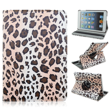 Leopard Print 360 Rotating Magnetic PU Leather Case Smart Cover Stand For Apple iPad Mini 1 2 3