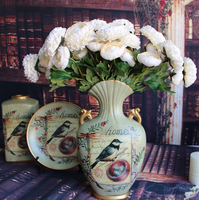 GNW FL-RS50-4 Wholesale Artificial Rose Preserved Flower for home decoration