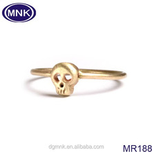 China factory 316L stainless steel fashion women gold skull rings