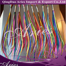 16 Inch Synthetic Grizzly Rooster Feather Hair Extension All Bright Color