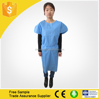kids non woven disposable lab coat surgical gown
