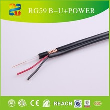CE,ROHS ,UL,COAXIAL CABLE BLACK 100m COPPER/CCS SIAMESE CABLE 18/2 POWER SECURITYBULK rg59 2x18awg cable electrical wire