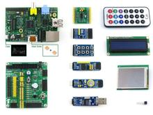 Raspberry Pi Model B 512MB RAM+10 Accessory Modules Kits+LCD+DVK511 with I2C+SPI+8IO+UART+case H+heat sinks = RPi B Package B