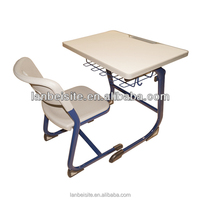 Made in China!User-friendly design school tables and chairs,school desk with bench
