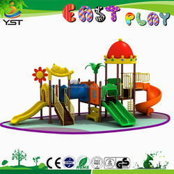2015 hot sell kids outdoor playground plastic slide wenzhou factory China