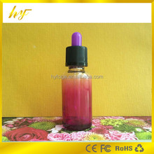 dropper sealing type 30ml gradational red colored bottle with child proof&tamper proof cap and colored bulb