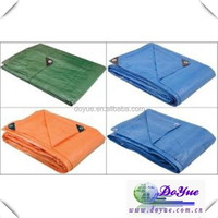 Heat reflective poly woven plastic eyelets tarps in variety customized tarpaulin size
