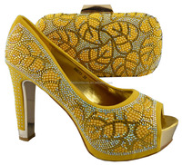 Latest fashion italian shoes and bags to match women/party high heel shoes and matching bags for wholesale