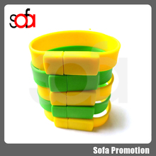 2015 high quality silicone bracelet usb flash drive OEM accept