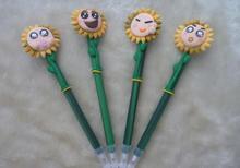 2014 wholesale cute novelty design pretty cartoon sun shape ball pen 0.5mm