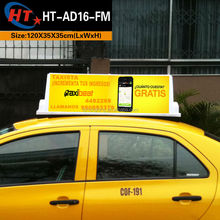 CE quality white PP plastic taxi top advertising light