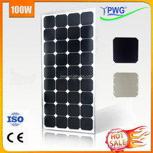 PWG Manufacturer in China Good Quality 100w Mono PV Solar Panel with CE & ISO---HOT SALE!!!