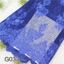 Royal blue cord lace fabric 2015 clothing new design wedding dress lace NP0621