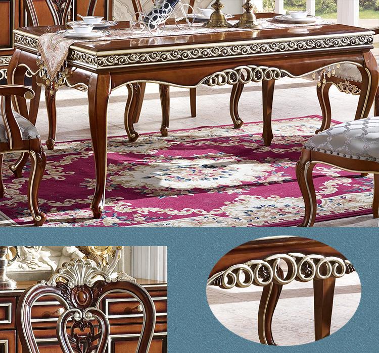 Dubai meubles classique de luxe longues tables manger for Chaise de salle a manger de luxe
