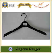 Banded Supplier Adults Stylish Black Plastic Flocking Hanger