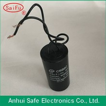 Wholesale high quality cbb60 motor running capacitor with able wire type use for ceiling fan