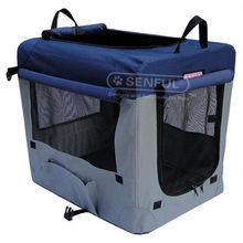 Foldable Pet Soft Crate with dog crate mat