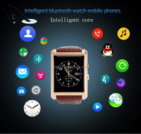 2015 NO.1 vintage smart bluetooth watch wristwatch F8 for iphone for samsung XIAOMI huawei android phone PK GVO8 U8 DM360
