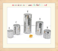 New Products Glass cylinder mosaic vases set of 5
