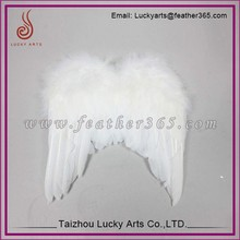 Lucky Arts Facoory direct sale fashion large feather angel wings