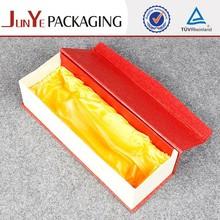 Cheap price logo printing customized cardboard luxury handmade jewelry box lining fabric