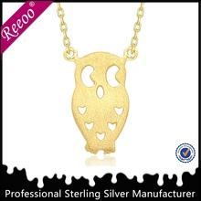 unique matte finished owl charm 925 sterling silver owl pendant