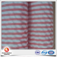 high quality yarn dyed pink white stripe pure cotton seersucker fabric for kids