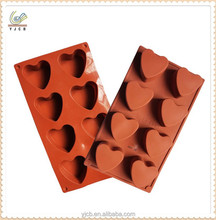 8cups heart shape cakes decorations silicone