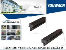Universal windshield wiper rubber replacement
